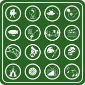 Hobbies icon set — Stock Vector