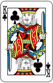 King of clubs — Vector de stock