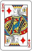 King of diamonds — Stock Vector