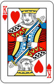 King of hearts — Vector de stock