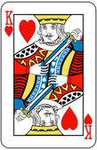 Kung i hjärter — Stockvektor
