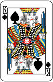 King of spades — Vetorial Stock