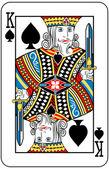 Kungen spader — Stockvektor