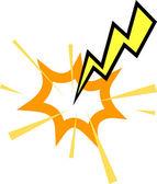 Lightning strike — Stock Vector
