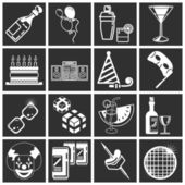 Party icon set series — Stock Vector