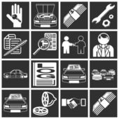 Icons related to purchasing a car — Stock Vector