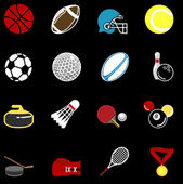 Sports icon set — Stock Vector