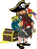 Pirate illustration — Stock Vector