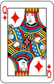 Queen of diamonds — Stock Vector