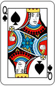 Queen of spades — Vetorial Stock