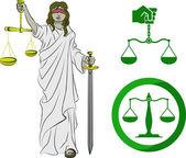 司法 — 图库矢量图片