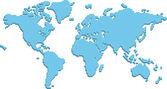 World map made up of 3d pillars — Stock Vector