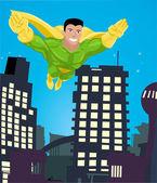 Superhero illustration — Stock Vector