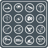 Tools and industry icon set — Stock Vector