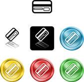 Kredi kartı simgesi simgesi — Stok Vektör