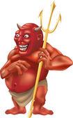 Illustration de fourche de diable — Vecteur
