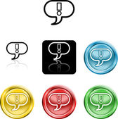 Exclamation mark icon symbol — Stock Vector