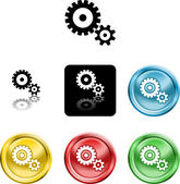 Cog gears icon symbol icon — Stock Vector