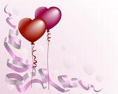 Herzförmige liebe ballon hintergrund — Stockvektor