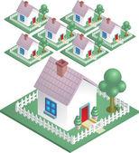 Ilustracja sąsiedztwa — Wektor stockowy