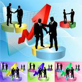 Piechart business concept illustration — Stock Vector