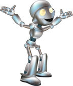 Ilustración lindo robot — Vector de stock