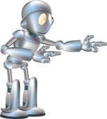 Cute robot illustration — Stock Vector