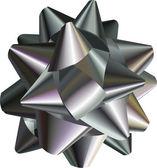 Pretty silver bow — Stock Vector