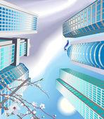 Skyscrapers Illustration — Stock Vector