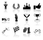 Victory and Success Icon Set Series Design Elements — Stock Vector