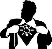 Super idea man concept — Stock Vector