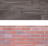 Brick and wood seamlessly tileable Textures — Stockvector