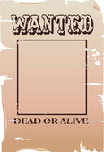 Wanted poster Illustration — Stock Vector