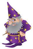 Wizard illustration — Stock Vector