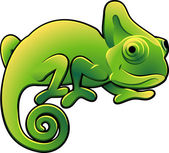 Cute Chameleon Vector Illustration — Stock Vector