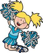 Illustration of cheerleader — Stock Vector