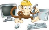Construction monkey — Stock Vector