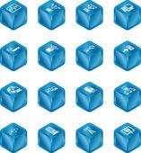 Série de ícones de cubo de computação de rede. — Vetorial Stock