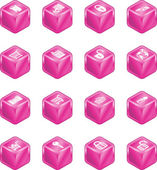 Security and E-Commerce Cube Icon Set Series — Stock Vector