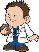 Illustration of doctor — Stock Vector