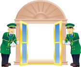 Doormen — Stock Vector