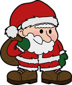 Illustration of Santa Claus — Stock Vector