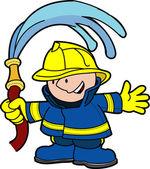 消防员的插图 — 图库矢量图片