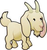 Cute Goat Farm Animal Vector Illustration — Stock Vector