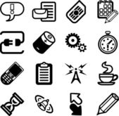 Vector Mobile Phone Applications GUI Icon Series — Stock Vector
