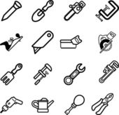 Set of tool icons — Stock Vector