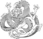 日本の龍の図 — ストックベクタ
