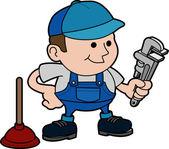 Illustration of plumber — Stock Vector