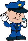 Illustration of policeman — Stock Vector