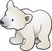 Cute Polar Bear Vector Illustration — Stock Vector